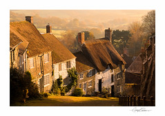 Classic Dorset (George-Edwards) Tags: street old autumn light sunset england mist colour fall classic fog landscape countryside town rooftops traditional cobbled dorset hilltop shaftesbury thatched cottages hovis goldhill blackmorevale georgeedwards