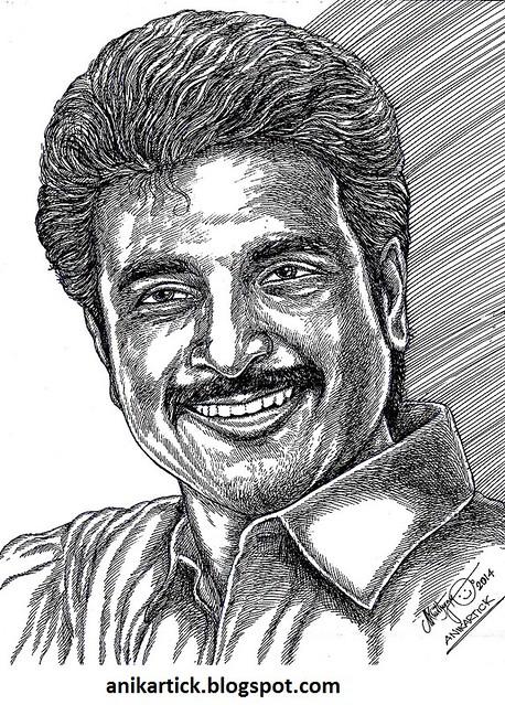 SIVAKARTHIKEYAN - Actor - Tamil Actor - Portrait - Pen drawing - Artist Anikartick,Chennai,Tamil Nadu,India