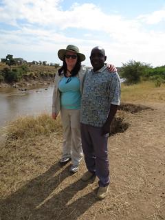 Megan with her guide, Mbaruku