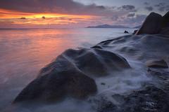 Coucher de soleil sur Anse Source d'Argent #1 [ Île de la Digue ~ Seychelles ] (emvri85) Tags: sunset beach zeiss rocks seychelles plage coucherdesoleil rochers praslin ansesourcedargent leefilters d800e