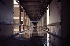 Endless Corridor. (GirlsTears) Tags: west st hospital yorkshire lukes moor hud asylum stlukes huddersfield urbex crosland urbexuk