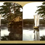 A SAILING SKIFF AT PINE-TREE POINT in OLD JAPAN thumbnail