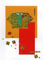 julie savard_origami 001 016 (Julie Savard) Tags: original colors collage shirt paper origami papier washi chemise tant chiyogami juliesavard