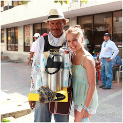 Coffee Street Vendor, Cartagena Colombia (kcezary) Tags: street travel summer vacation portrait tourism coffee outdoors colombia places vendor cartagena ritratto портрет фотография улица путешествия canonprimelens canon5dmkii mylensdb canonef40mmf28stm
