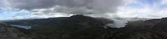 view from Ben A'an (Sean Munson) Tags: panorama mountain lake water rain landscape scotland highlands hiking loch trossachs benvenue scottishhighlands lochkatrine lochachray queenelizabethforestpark benaan