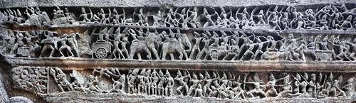 India - Maharashtra - Ellora Caves - Kailasa Temple - Episode From Mahabharata Epos - 14b