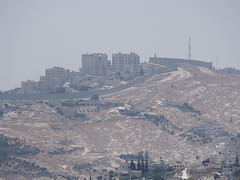 The Wall passing by Palestinean suburbs, Jerusalem!