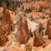 Torres e paredões de rochas avermelhadas