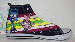 GUMBALL & TEEN TITANS GO Shoes (inspired) (demonescuro) Tags: scarpe shoes dipinte mano custom handmade hand painted acryl acrylic paint gumball the amazing world teen titans go cartoon network boing k2 tv televisione