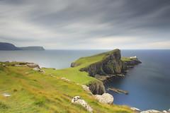 Brought to a Point (Zur@imiAbro@d) Tags: scotland uk unitedkingdom greatbritain isleofskye skye glendale neistpoint lighthouse cliff sea leadingline view vantagepoint wind rain clouds blurr polariser zurimiabrod