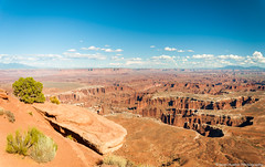DSC_1728-Pano.jpg (brassshadow) Tags: utah landscape grandviewpointoverlook nature nationalpark outdoors sanjuancounty canyon overlook canyonlandsnationalpark islandinthesky moab unitedstates us