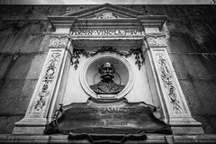 Sir Joseph Bazalgette Statue (Daniel Zwierzchowski) Tags: sir joseph bazalgette statue london uk united kingdom england eos550d eos 550d memorial bnw black white blackandwhite bw blackwhite monochrome canon