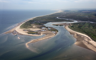 Scolt Head Island - north Norfolk coast aerial image