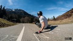 Mathieu col de Marie Blanque (Trialxav) Tags: longboard longboarding skate freeride dh slide pyrenees marie blanque col