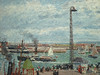 PISSARRO Camille,1903 - L'Anse des Pilotes et le Brise-lames Est, Le Havre, Après-Midi, Temps ensoleillé (Le Havre) - Détail 03