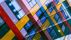 PokemonaDeChroma :D (PokemonaDeChroma) Tags: buildings colorful glass design modern boulevardmacdonald paris multicolor shadows vibrant france architecture blue yellow cyan pink purple red green brown black colorpalette reflection pokemonadechroma iledefrance 7dwf geometry dutchangle bâtiments coloré verre conception moderne boulevar macdonald multicolore ombres bleu jaune rose violet rouge vert marron noir palette de couleurs réflexion géométrie windows