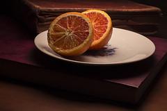 Old warm (Alias_239) Tags: ایران قم طبیعت بیجان پرتقال کتاب قدیمی بشقاب iran qom still life orange book old dish