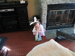 Our Easter Bunny Ava (supe2009) Tags: ava easter basket hunting ears celebrtion