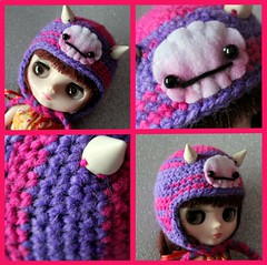 Pink and Purple Baby Fangster Hat
