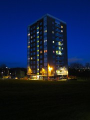 Armley, Leeds (Timbo_a_go_go) Tags: tower night lights time dusk leeds illuminated highrise block armley