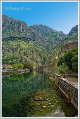 Kotor, Montenegro (Danny~F) Tags: city blue trees sky mountain mountains tree green water wall canal hills oldtown montenegro balkan kotor