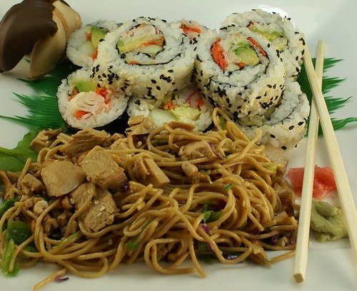 California Rolls & Asian Noodle Salad