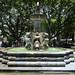 La fontana centrale nella parque central di Antigua