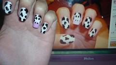 Unhas de vaquinha, inspiradas na foto do facebook. (Karoline Bione) Tags: nail unhas nailart facebook unha vaquinha unhadecorada