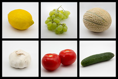 Obst Collage (F2-Beamer) Tags: gurke tomaten trauben knoblauch obst zitrone melone canoneos60d