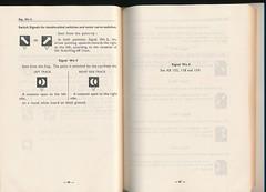 "German Railway Signals - Page 44 (Mark Vogel) Tags: railroad train eisenbahn railway db german signal signaux chemindefer signale rulebook ""german bahn"" ""deutsche eisenbahnsignal railways"" operatingrules signalchart signaldiagram signalaspects signalbuch"