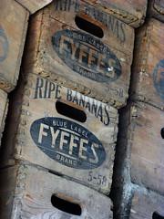 Banana boxes (Thrift) Tags: old farmhouse decay farm bananas boxes decrepit woodenbox mouldering fyffes bananabox pearsonsfarm