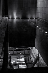 Diluted (Anthony Pallotto Photography) Tags: urban bw white black reflection water netherlands amsterdam lights nikon highcontrast indoors dslr schiphol slipknot diluted d7000 wtcschipholairport