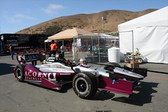The car of James Jakes gets pushed out onto pitlane prior to practice at Sonoma Raceway (IndyCar Series) Tags: jamesjakes meteringmode5 isospeedrating250 rahallettermanlaniganracing exposure102500 cameranikond4 fnumber14010 focallength28010 goprograndprixofsonoma