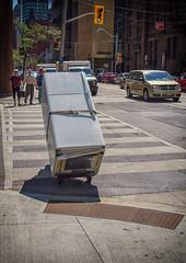 Is your refrigerator running? (GBaker63) Tags: street people toronto cars moving refrigerator olympusomdem5 olympusmzuikoed14150mmf4056