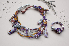 Hug me (tender lavender) (rRradionica) Tags: necklace handmade craft wrapped bracelet accessories etsy knitted accessory bamboobeads rrradionica
