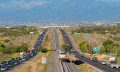 Rush Hour (Train Chaser) Tags: santafe railrunner nmrx nmrx106