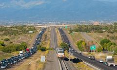 Rush Hour (Train Chaser) Tags: santafe railrunner nmrx nmrx106