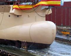 Bulbos de buques (29) (javier_cx9aaw) Tags: de shipyard shipbuilding bulbos proa puertovigo industrianaval astillerosconstrucciones cxaaw