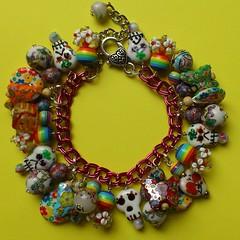 Day of the Dead Bracelet (Rainbow Mermaid) Tags: handmade jewelry jewellery rainbowmermaid