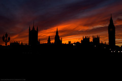 London By Night (Ash Gardner Photography) Tags: sunset sky london eye silhouette skyline night square big ben trafalgar