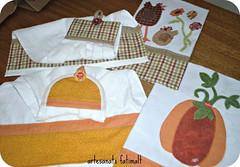 Abboras e galinhas-Panos de copa e bate mo (fatimalt) Tags: galinha handmade copa cozinha tecido aboboras panodeprato toalhademo