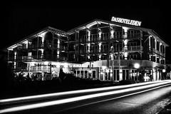 Hotel Eden (Gikon) Tags: longexposure light urban bw monochrome night buildings lights hotel austria blackwhite nikon nightshot 1855mm urbanphotography gikon d3100