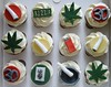 Cannabis Themed Cupcakes (There for the Baking) Tags: birthday cake 30 manchester baking cigarette smoking cupcake gift spliff lighter ashtray cannabis joint rizla giftbox marijuna