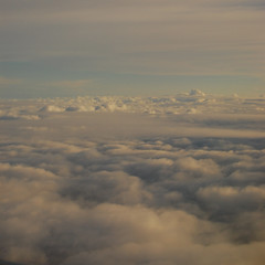 The mountain in the distance (radargeek) Tags: sky clouds flying windowseat overthewing