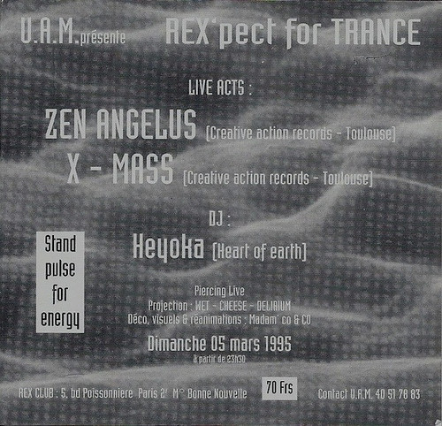 "Patrice Heyoka - Flyer 03/05/1995 - UAM ""Rex'pect for Trance"" @ Rex Club (Paris) <a style=""margin-left:10px; font-size:0.8em;"" href=""http://www.flickr.com/photos/110110699@N03/11325129053/"" target=""_blank"">@flickr</a>"