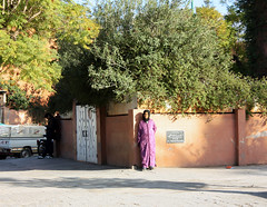 (SofiDofi) Tags: africa street travel trees woman sunlight green fun waiting pretty northafrica exploring sunny morocco marrakech traveling february lush moro winter2011