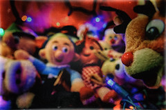 The Misfit Toys Christmas Office Party (hbmike2000) Tags: santa christmas old party classic vintage toy toys lights nikon holidays bokeh scratches retro christmaslights plush led nostalgia worn wetplate nostalgic santaclaus christmasdecoration rudolph hermey christmasornament d200 yukoncornelius scratched vignette hdr clarice abominablesnowman islandofmisfittoys plushtoys kingmoonracer themeoftheweek charlieinthebox misfittoys spottedelephant rudolphtherednosedreindeer christmasclassic totw samthesnowman niksoftware bosself misfitdoll hbmike2000 compcorner nikanalogefex flickr12days anythingchristmassy