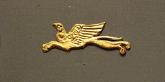 Gold griffon from Grave Circle A at Mycenae, Greece