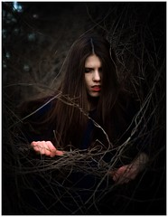 Anas (nokomis_moonlight) Tags: winter portrait art fairytale dark photography nikon witch auvergne d5100