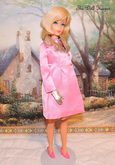 Vintage Mod TNT Blonde Hair Fair Barbie Doll in Pink Premiere Coat (The doll keeper) Tags: pink vintage hair gold mod doll coat barbie fair blonde jc premiere tnt penney